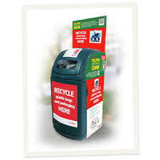 Place your plastic bags for recycling in one of these bins at your local supermarket.